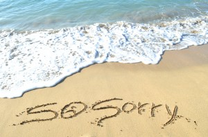 So Sorry on beach