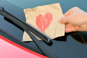 love note on windshield