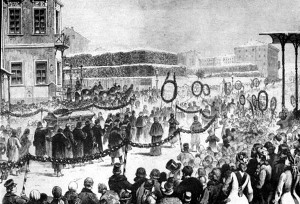 Dostoevsky's funeral procession