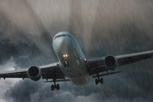 Aircraft landing in bad weather