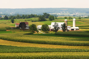 An amish farmland in Pennsylvania.